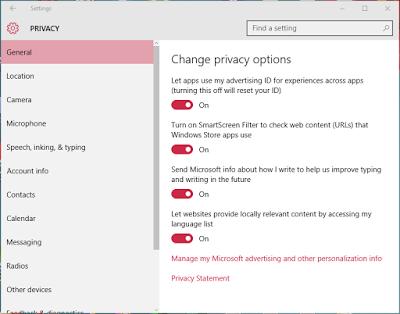 كيفية حماية خصوصيتك على ويندوز 10