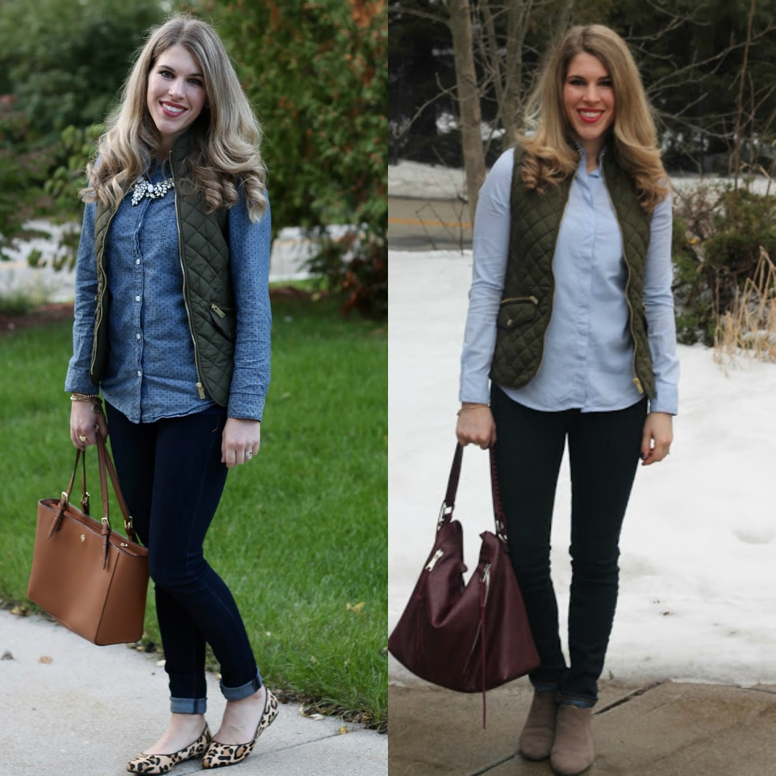 what to wear with quilted vest