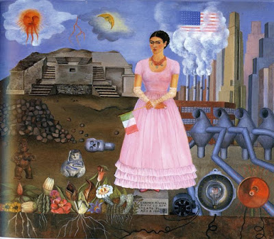 FridaKahlo-Self-Portrait-on-the-Border-Line-Between-Mexico-and-the-United-States-1932