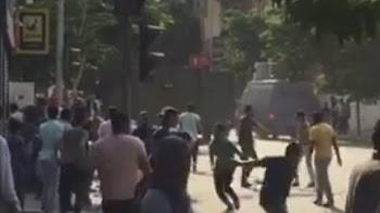 مصادمات بين طلاب الثانوية العامه وقوات الامن عقب محاولتهم دخل التحرير