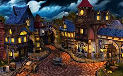 medieval village fantasy town boucher olivier portfolio example times discover