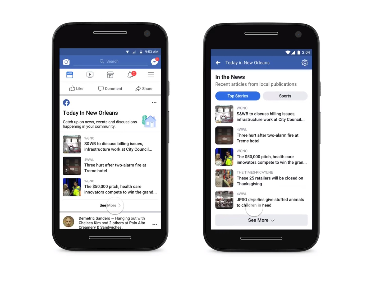 Facebook Launches Local News Feature in 400 Cities