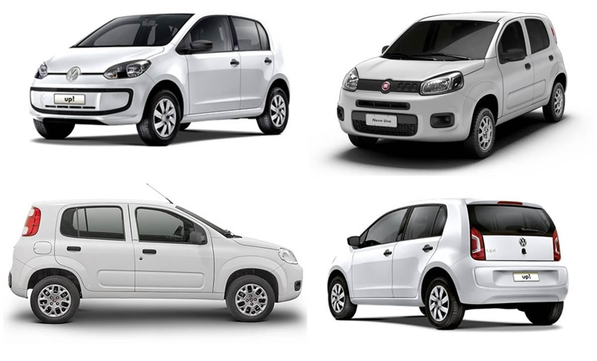 Novo Fiat Uno Attractive X Volkswagen Up Comparativo De