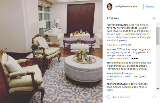 Sharon Cuneta Shows Off Her Elegant Condo In Makati! Must See!