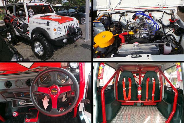 Mesin Strir Belakang dan Interior - Biaya Modifikasi Suzuki Katana Offroad 4x4 Ban Besar Mirip Jeep Hummer Rubicon