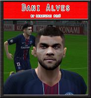 PES 6 Faces Dani Alves by Dewatupai