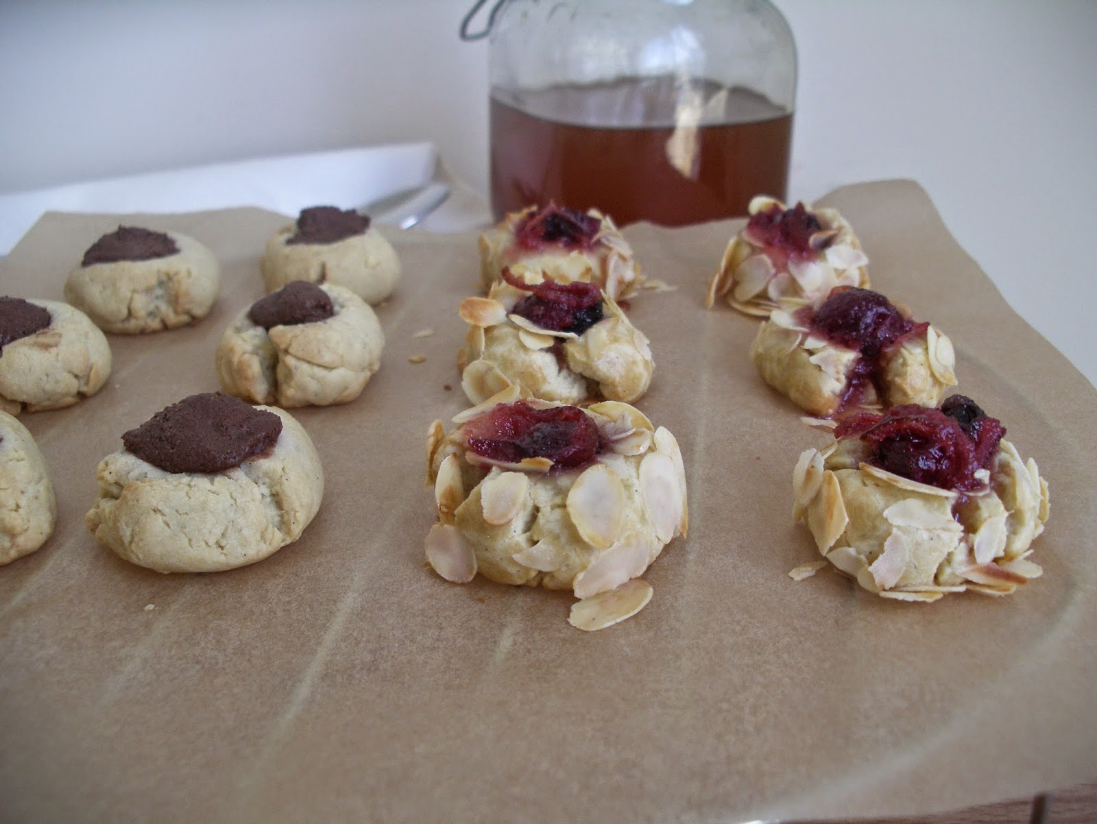 Honey thumbprint cookies