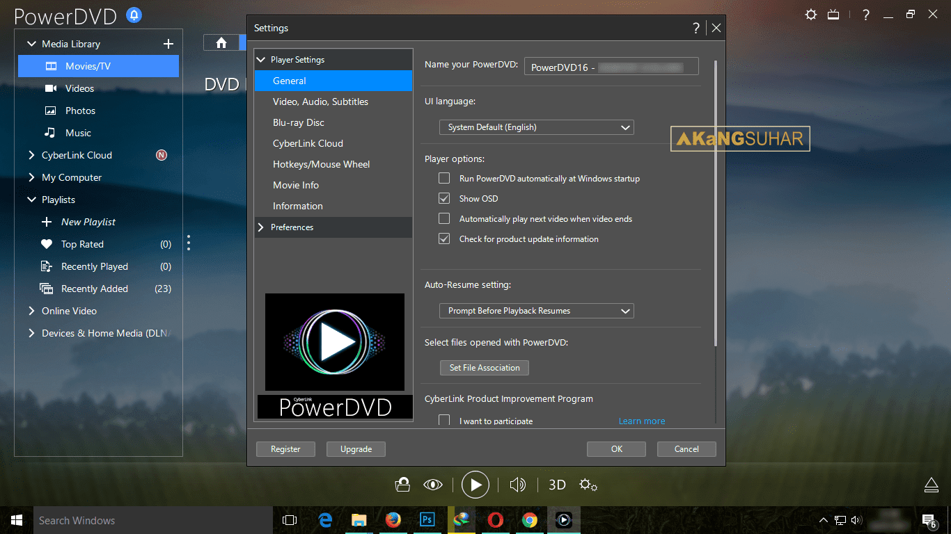 Download Cyberlink PowerDVD Ultra 16.0.2406.60 Full Version Terbaru