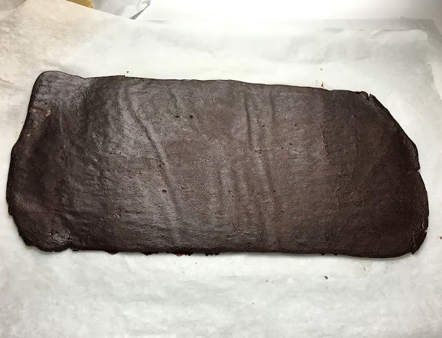Rolled Sheet of Chocolate Shortbread (Pate Sablee)