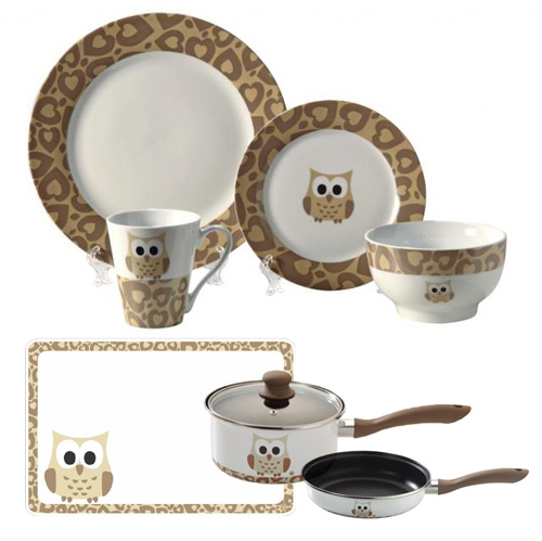 Dinnerware With Owls On It Pictures to Pin on Pinterest ...