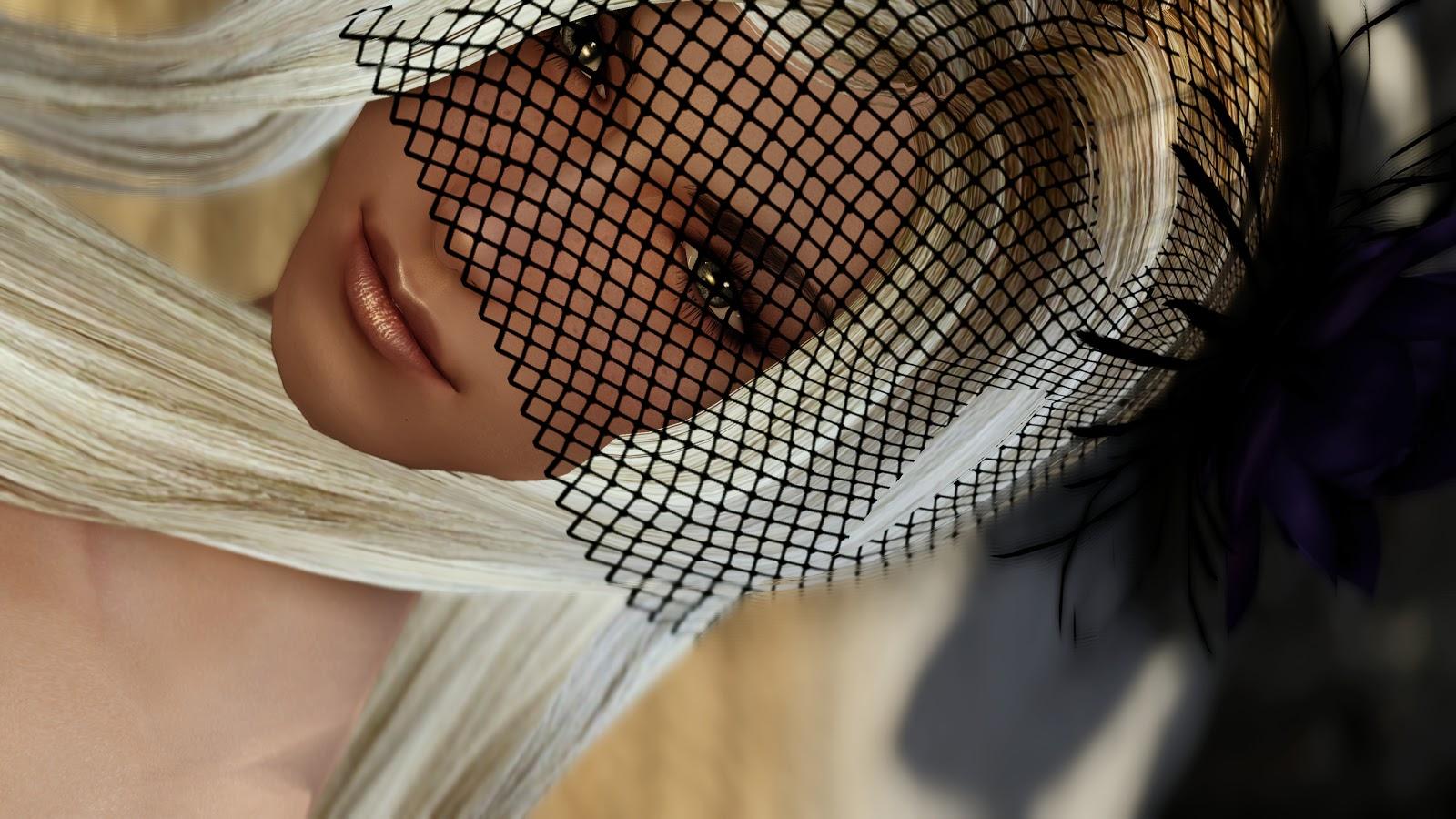 skyrim rose veils various colors with Diana
