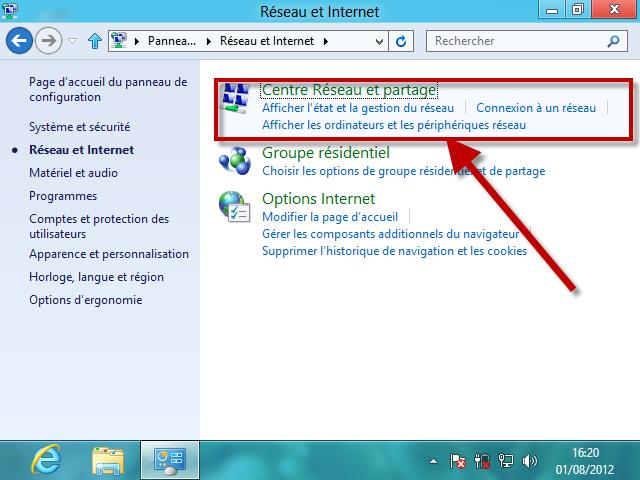 Partager connexion wifi via ethernet windows 7