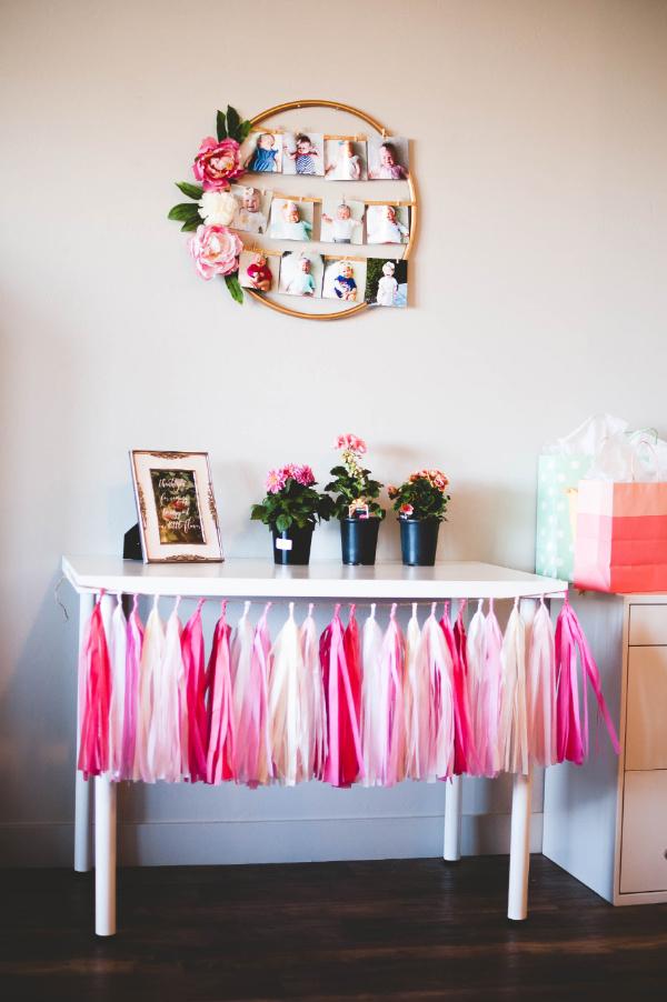 floral hoop frame