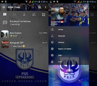 BBM MOD Tema PSIS Semarang v3.0.1.25 Apk Terbaru 2016