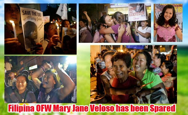 Netizens Rejoice for Filipina OFW Mary Jane Veloso has been Spared, Miracles are Real