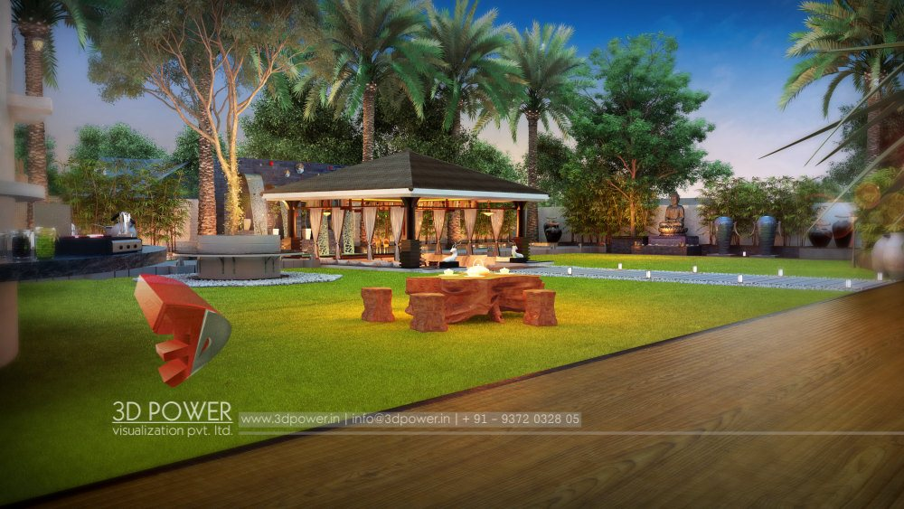 3d animation 3d rendering 3d walkthrough 3d interior for Garden design 3d online