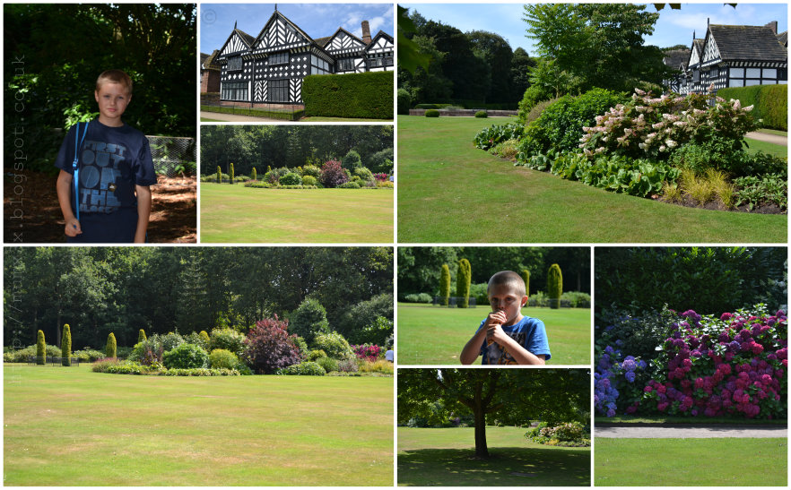 speke hall south garden, ups and downs smiles and frowns