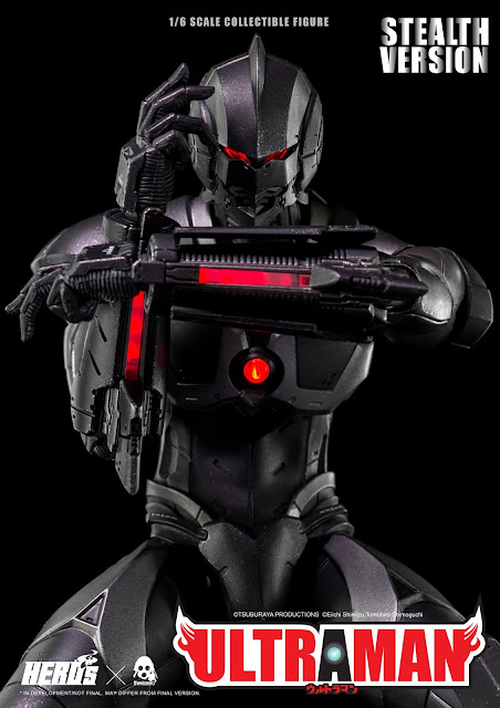 osw.zone Threezero 1/6 scale STEALTH VERSION ULTRAMAN 12 inch collectible