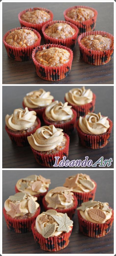 Tutorial decoración hojas cupcakes