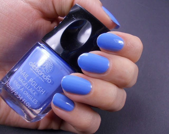 Alessandro Baby blue nail polish swatch review 3