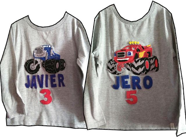 Camisetas personalizadas con fieltro con el dibujo preferido de tu hijo