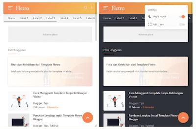 Tampilan Mobile Template Blogger Fletro Premium