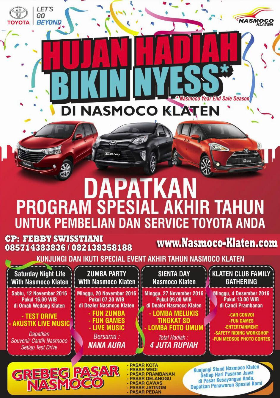 Spesial Toyota Event Akhir Tahun Bersama Nasmoco Klaten