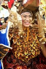 Salah satu peserta dalam Karnaval Batik Solo Indonesia