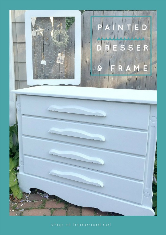 Vintage as is dresser gets a gorgeous makeover. www.homeroad.net