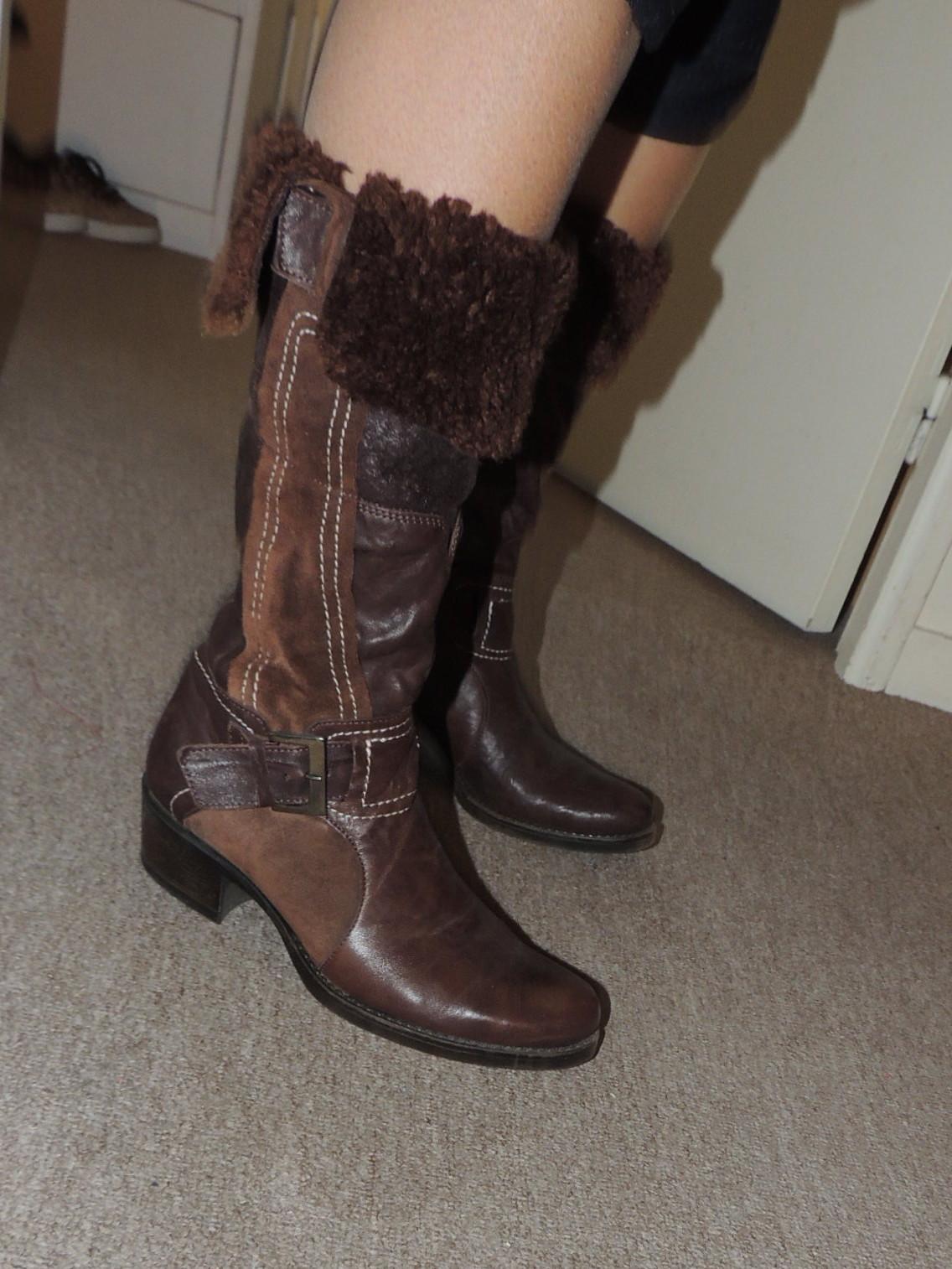 vide dressing de misscola vintage bottes cuir bi mati re eden shoes 39. Black Bedroom Furniture Sets. Home Design Ideas