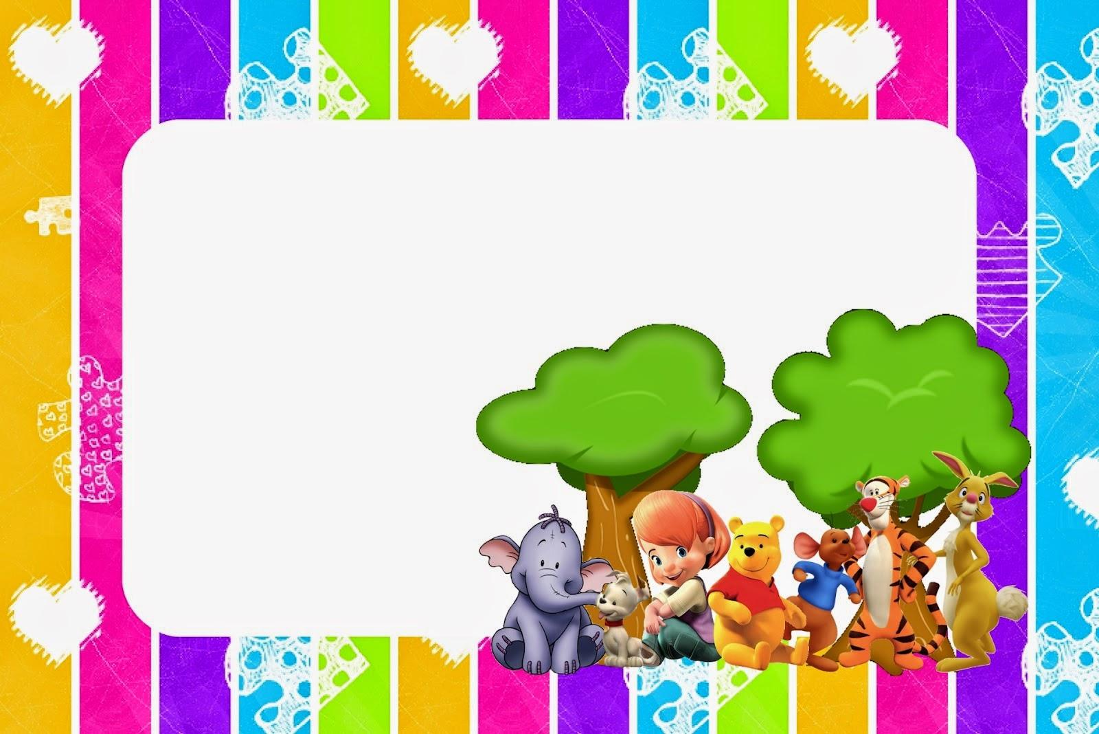 Winnie The Pooh Free Printable Invitations