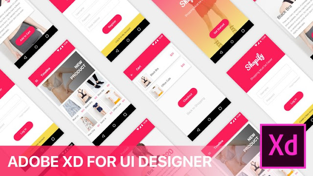 UI/UX Design with Adobe XD : E-Commerce App