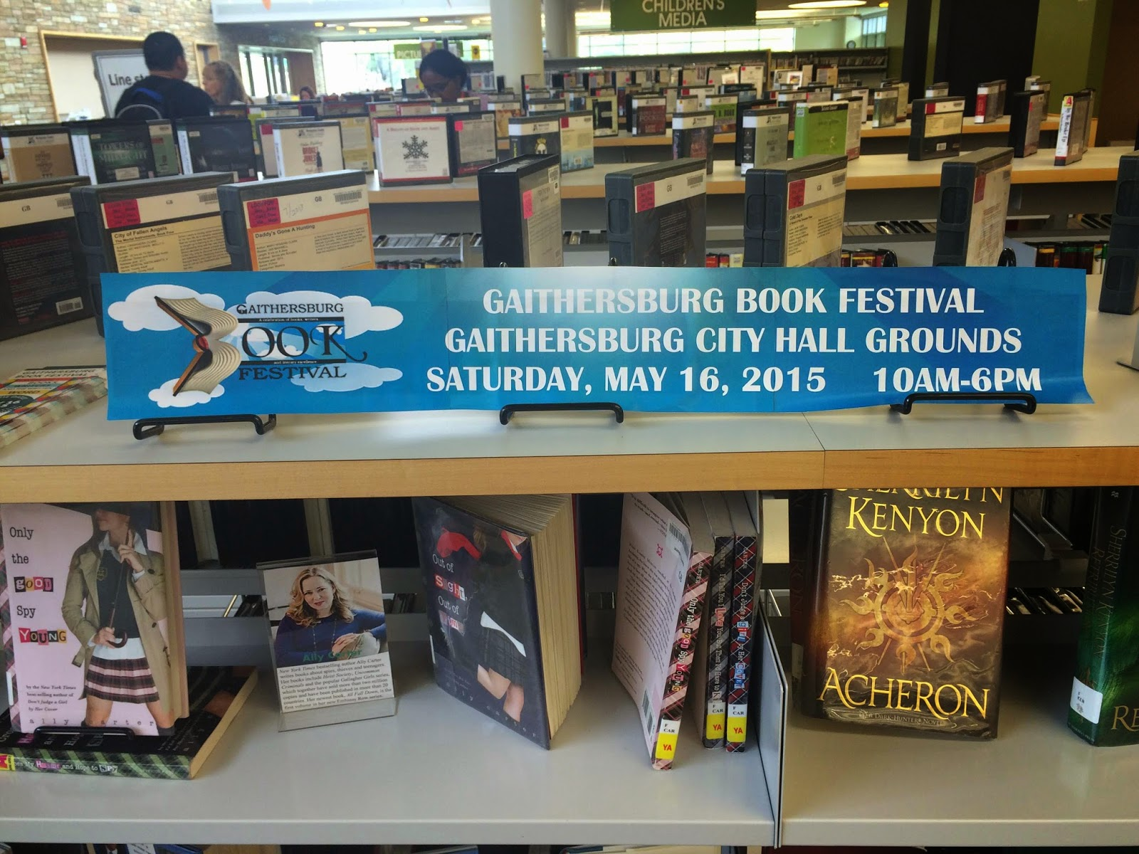 Gaithersburg Book Festival display at Gaithersburg Library