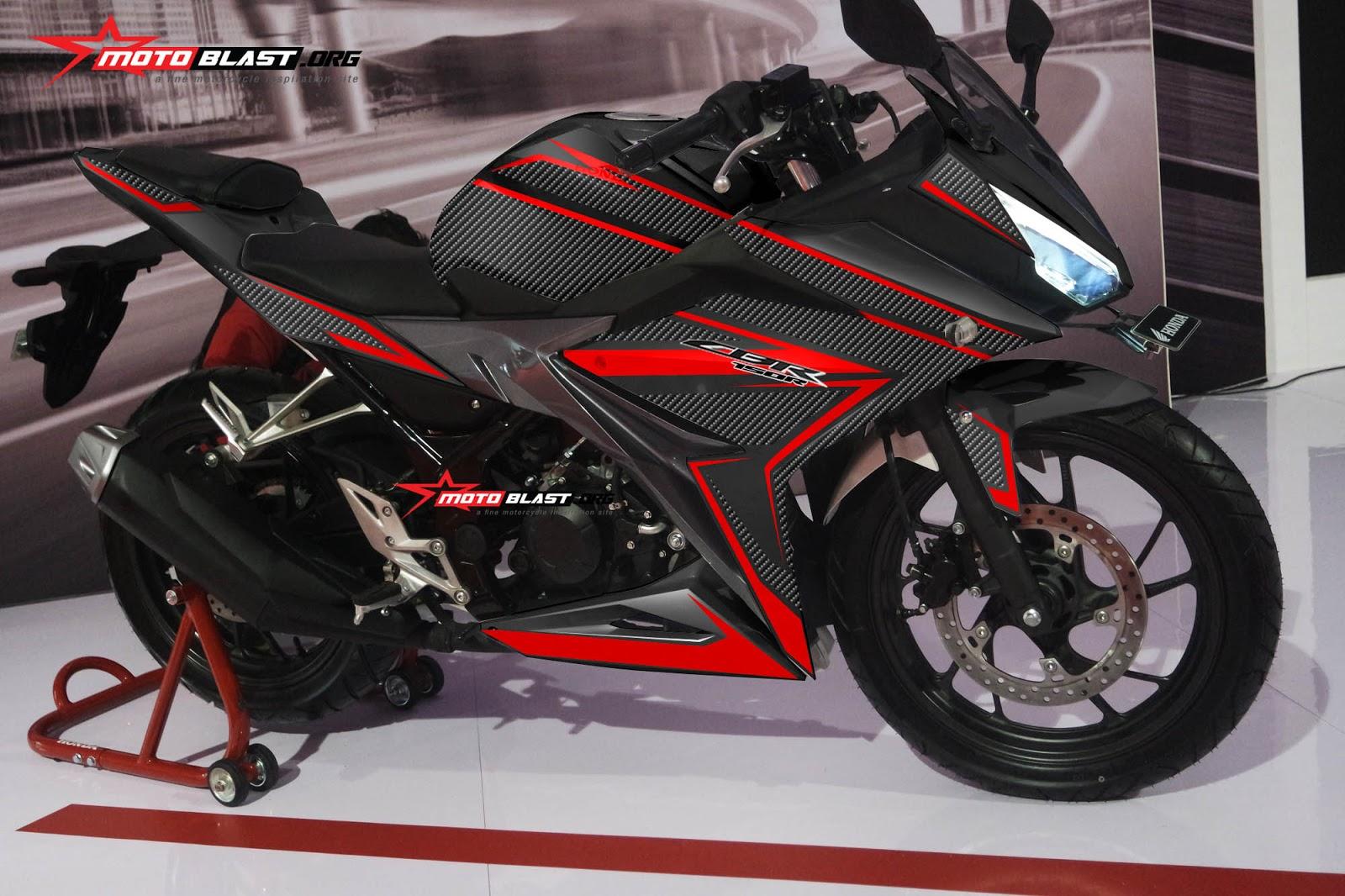 modifikasi cbr 150 warna hitam7  terbaru