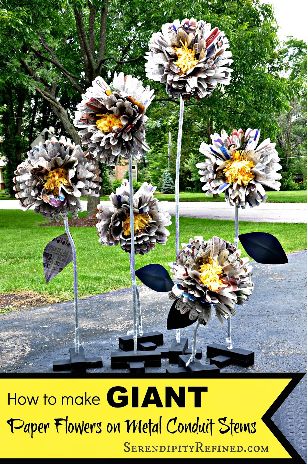 Making paper flowers with cricut httpserendipityrefined201407diy giant free standing paper flowersml izmirmasajfo