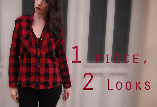 1 Pièce, 2 Looks : La chemise à carreaux