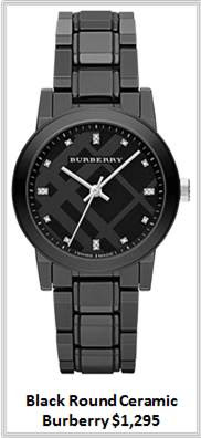 Sydney Fashion Hunter - Timeless Timepieces - Burberry Black Round Ceramic Watch