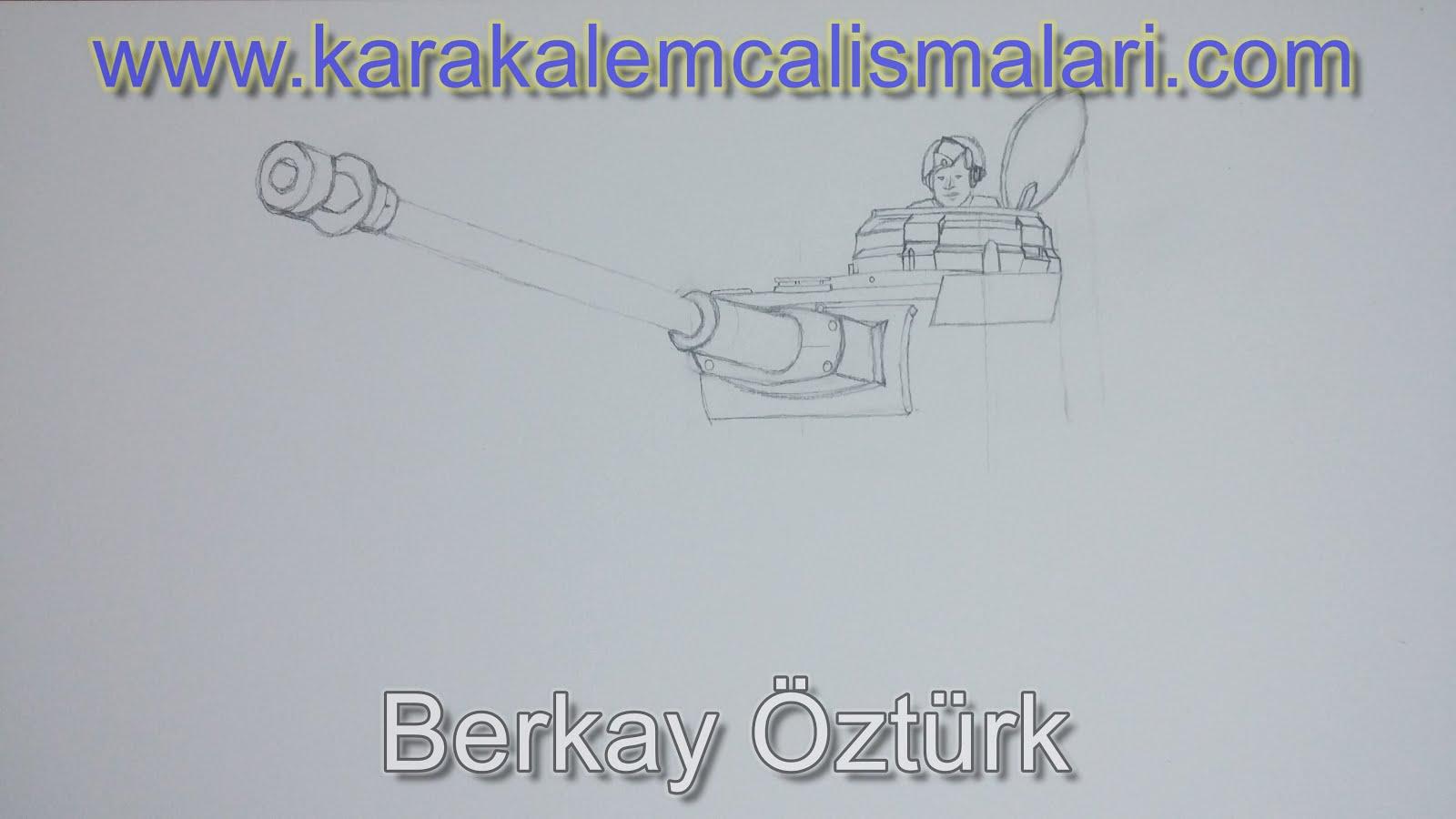 Tank Nasıl çizilir Adım Adım Tank çizimi Karakalem çalışmaları