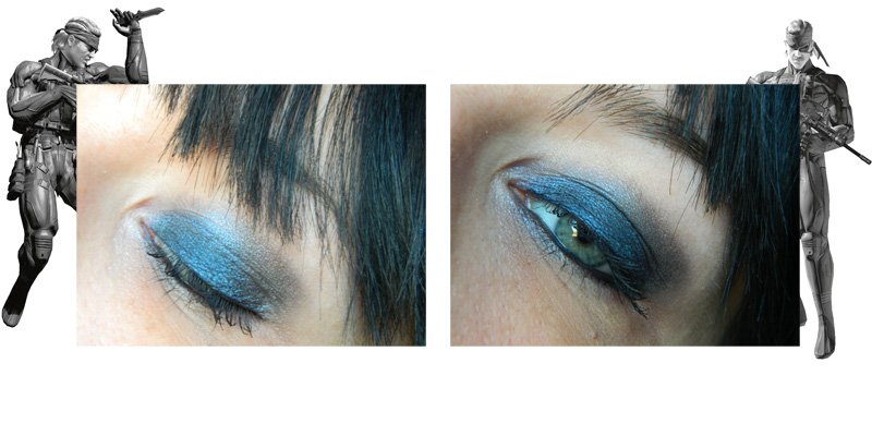 makeup bleu solid snake geek chic