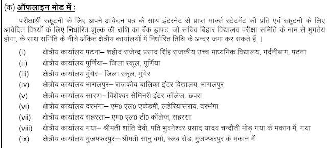 Bihar Intermediate Scrutiny Notice 2017