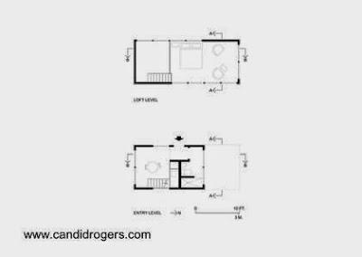 Plano de arquitectuta de dos plantas de casa pequeña compacta económica en Texas