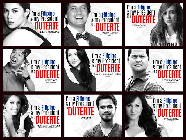 Legion of Duterte's celebrity supporters