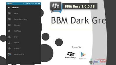 BBM MOD Dark Grey Base 3.0.0.18 Apk Terbaru (Clone)