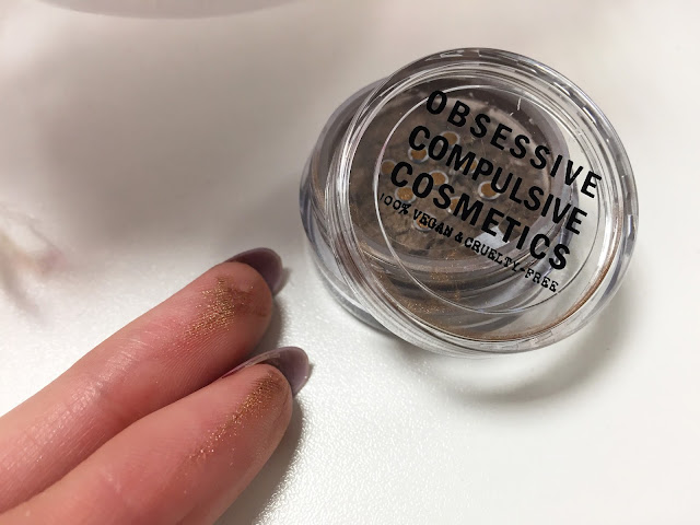 Party In The Nude HQhair Beauty Bauble Obsessive Compulsive Cosmetics Loose Eyeshadow in Brasstacks
