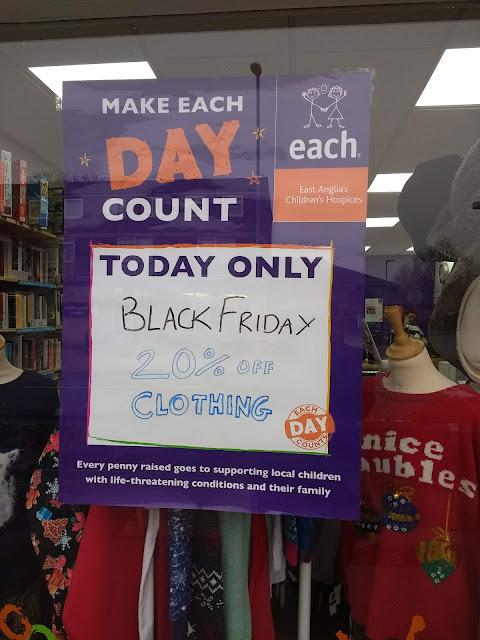 Charity Shop, Cherry Hinton, Black Friday, Cambridge, Psychogeography,