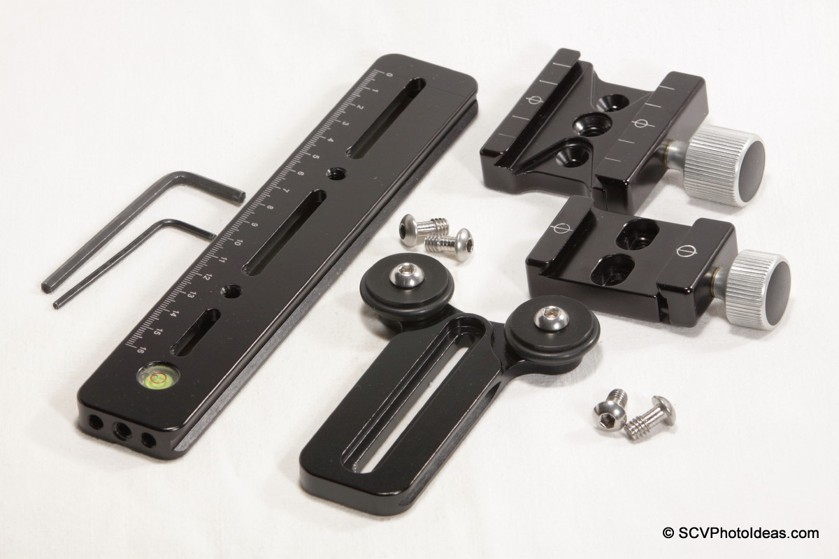 Versatile Long Lens Support Bracket components