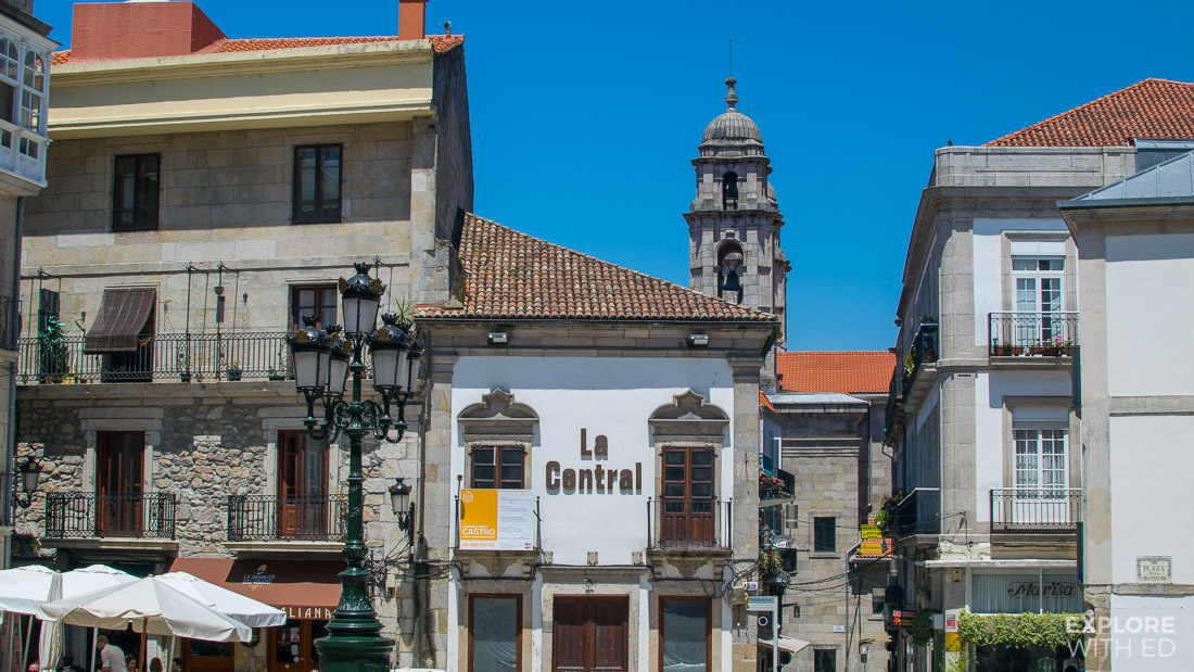 La Central Old Town Square in Vigo Spain