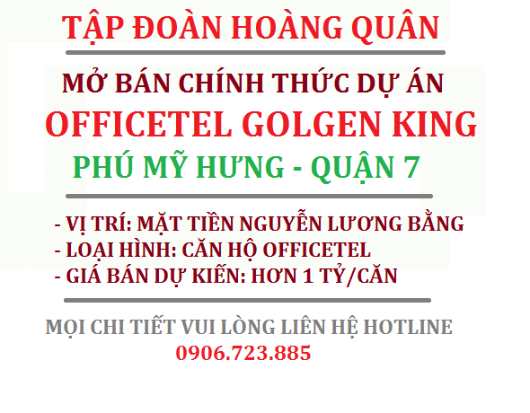 Căn hộ Officetel Golden King Quận 7