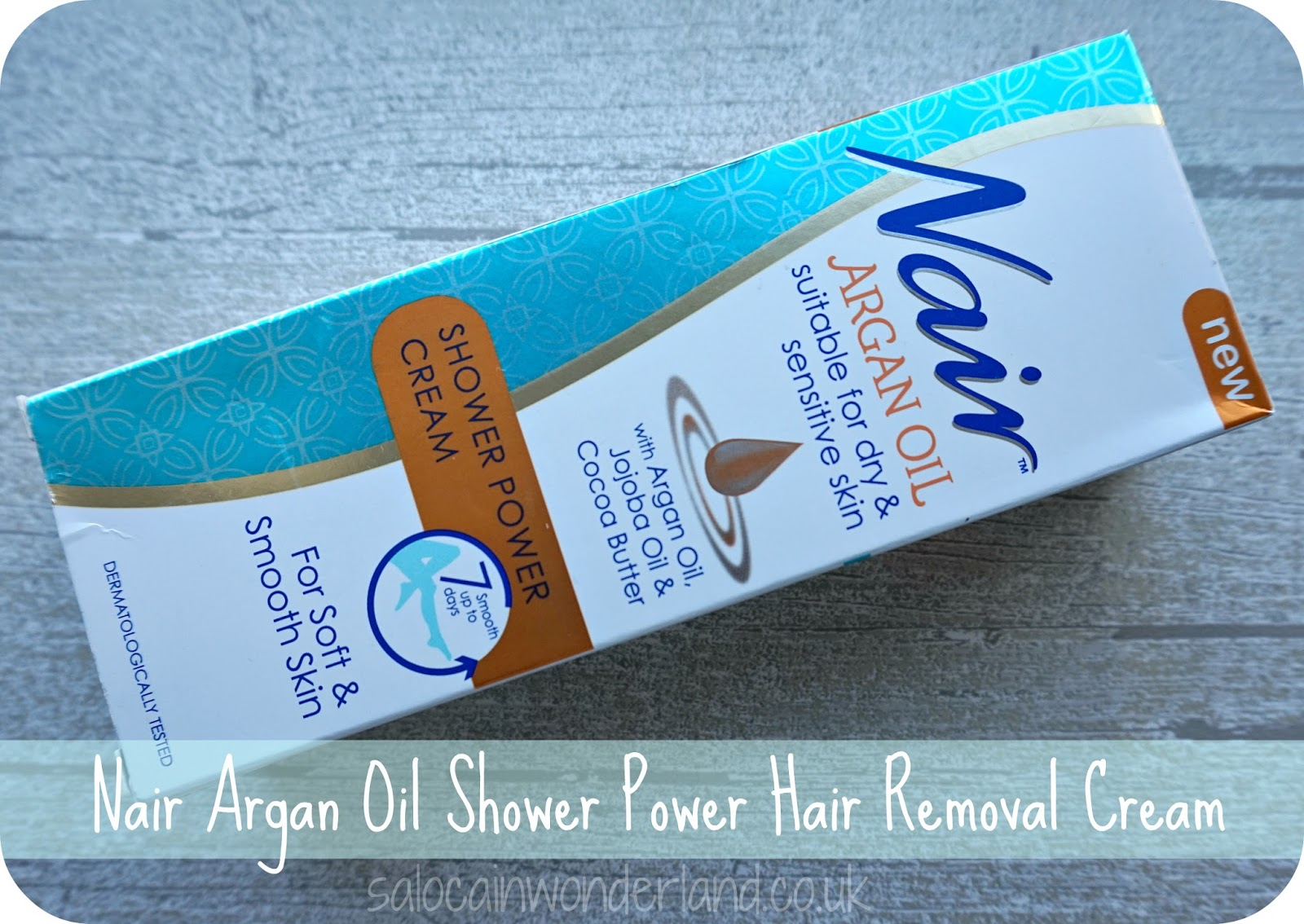 Saloca In Wonderland Nair Argan Oil Shower Power Hair Removal Cream Review