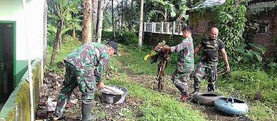 Jelang Penutupan TMMD, Bersih-Bersih Makoramil Baturaden